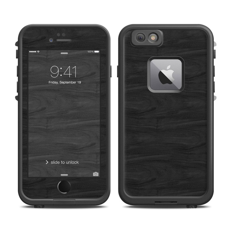 Black Woodgrain LifeProof iPhone 6s Plus fre Case Skin