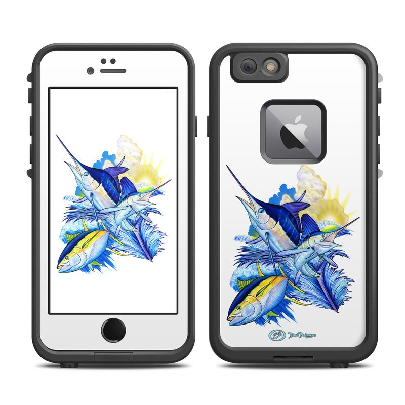 Blue White and Yellow LifeProof iPhone 6s Plus fre Case Skin