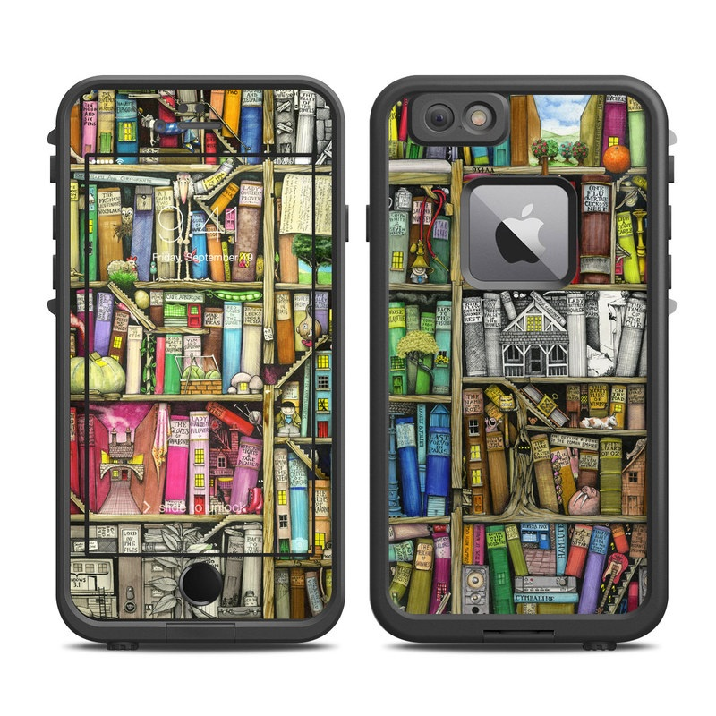 Bookshelf LifeProof iPhone 6s Plus fre Case Skin