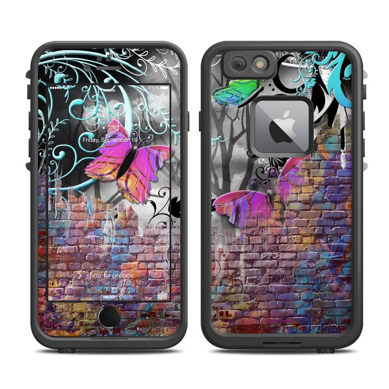 Butterfly Wall LifeProof iPhone 6s Plus fre Case Skin