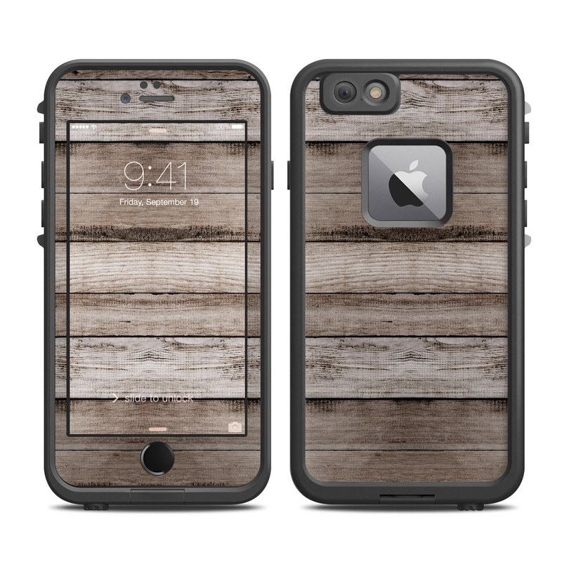 LifeProof iPhone 6s Plus fre Case Skin design of Wood, Plank, Wood stain, Hardwood, Line, Pattern, Floor, Lumber, Wood flooring, Plywood with brown, black colors