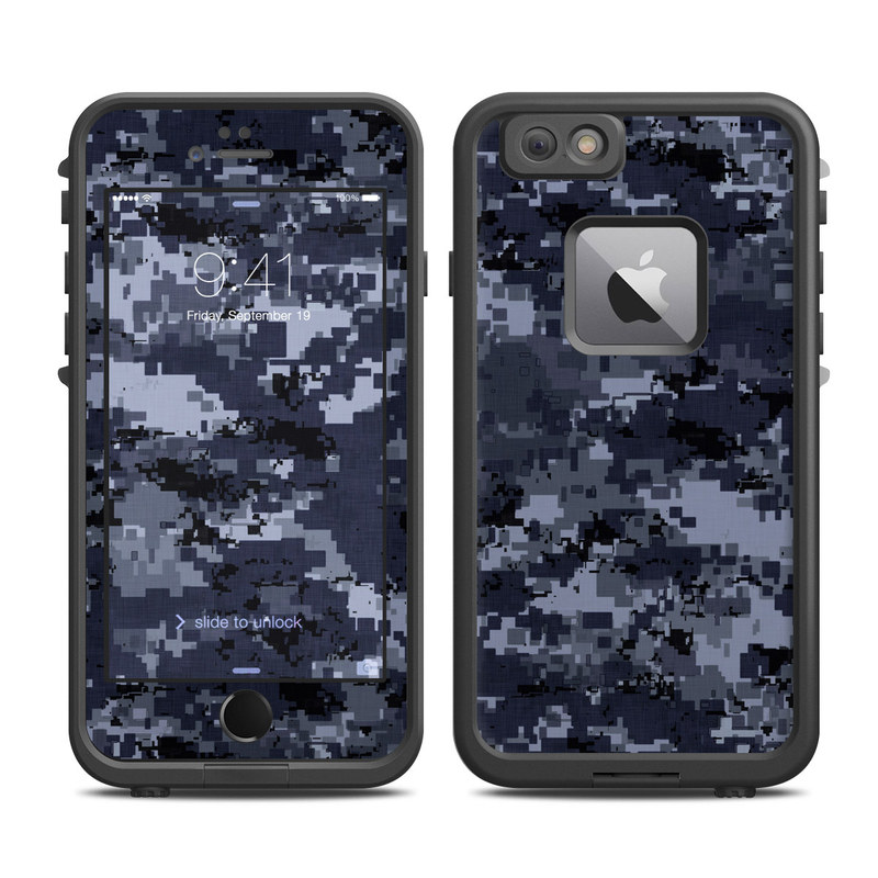 Digital Navy Camo LifeProof iPhone 6s Plus fre Case Skin