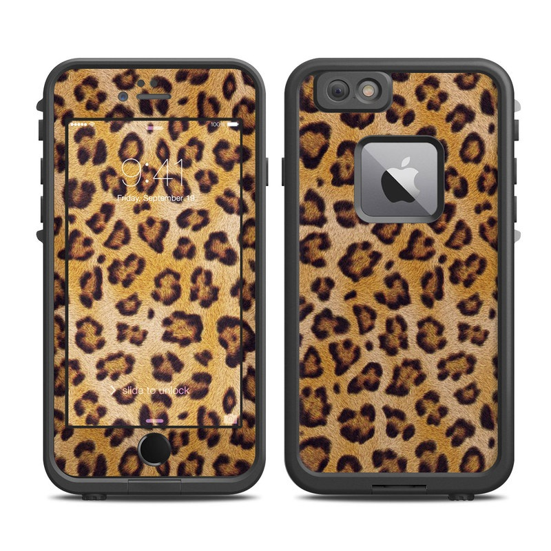 LifeProof iPhone 6s Plus fre Case Skin design of Pattern, Felidae, Fur, Brown, Design, Terrestrial animal, Close-up, Big cats, African leopard, Organism with orange, black colors