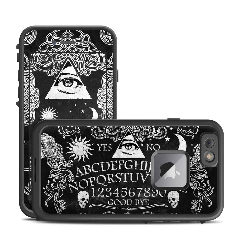 LifeProof iPhone 6s Plus fre Case Skin design of Text, Font, Pattern, Design, Illustration, Headpiece, Tiara, Black-and-white, Calligraphy, Hair accessory with black, white, gray colors