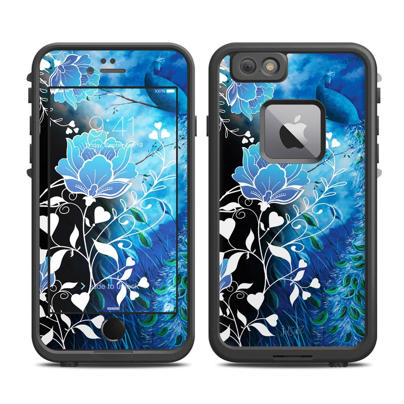 LifeProof iPhone 6s Plus fre Case Skin design of Blue, Pattern, Graphic design, Design, Illustration, Organism, Visual arts, Graphics, Plant, Art with black, blue, gray, white colors