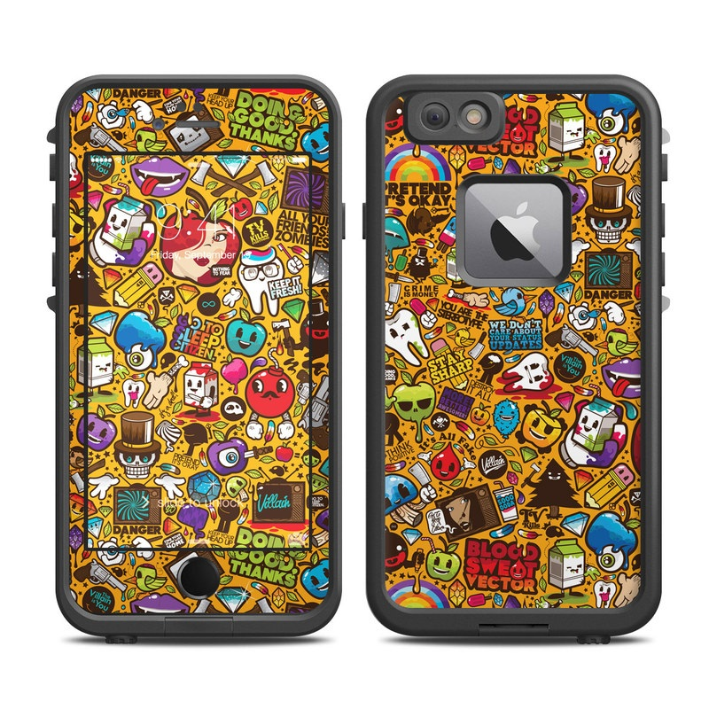 Psychedelic LifeProof iPhone 6s Plus fre Case Skin