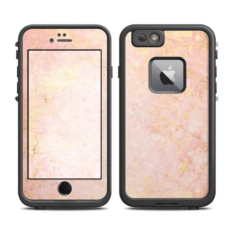 promo code 70581 66433 Rose Gold Marble LifeProof iPhone 6s Plus fre Case Skin