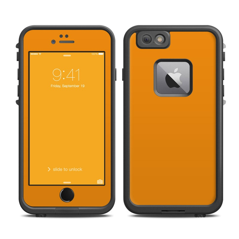 the best attitude b09e2 b1345 Solid State Orange LifeProof iPhone 6s Plus fre Case Skin