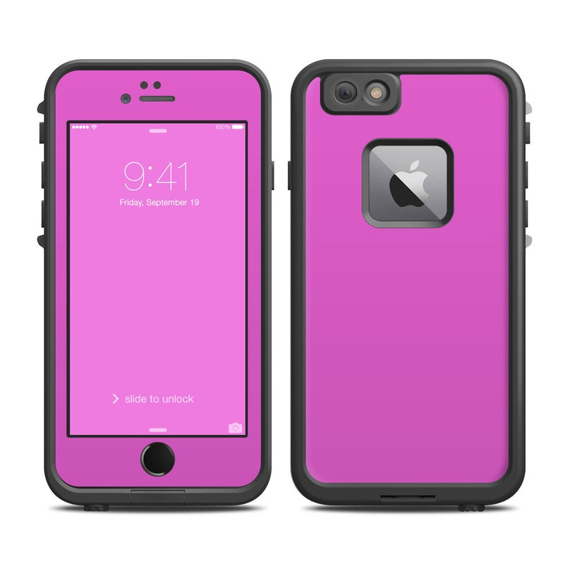 LifeProof iPhone 6s Plus fre Case Skin design of Violet, Pink, Purple, Red, Lilac, Magenta, Blue, Lavender, Text, Sky with pink colors
