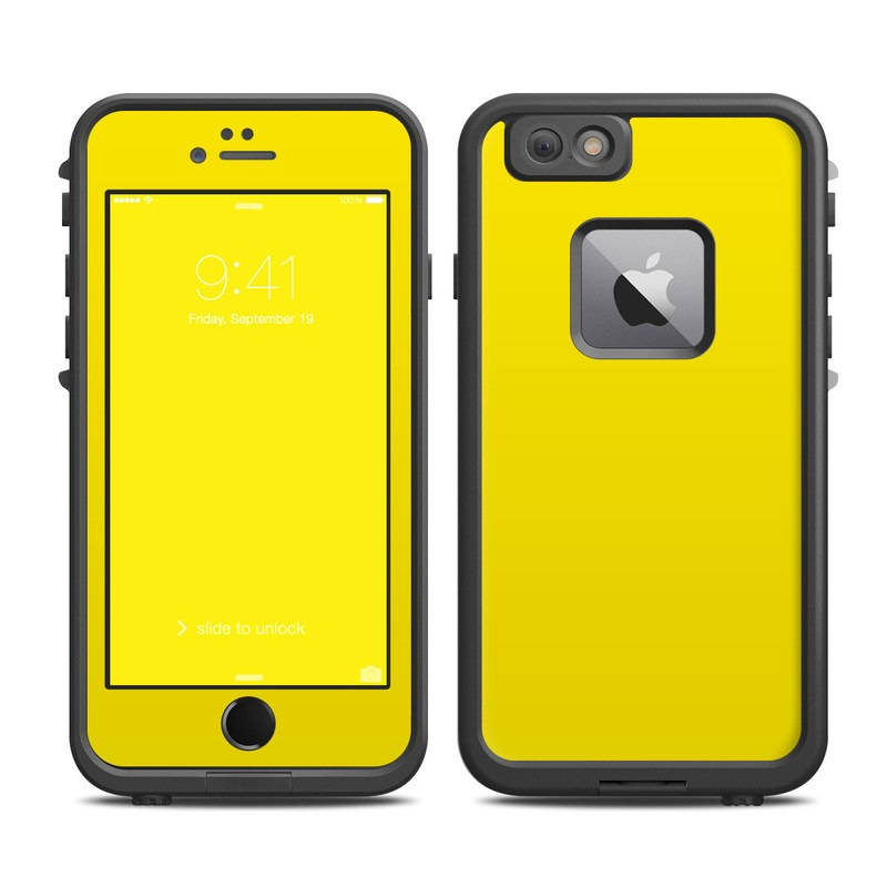 LifeProof iPhone 6s Plus fre Case Skin design of Green, Yellow, Orange, Text, Font with yellow colors