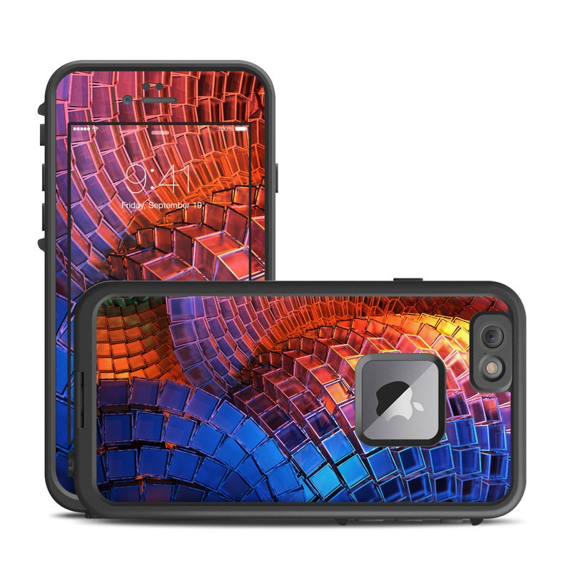 LifeProof iPhone 6s Plus fre Case Skin design of Blue, Red, Orange, Light, Pattern, Architecture, Design, Fractal art, Colorfulness, Psychedelic art with black, red, blue, purple, gray colors