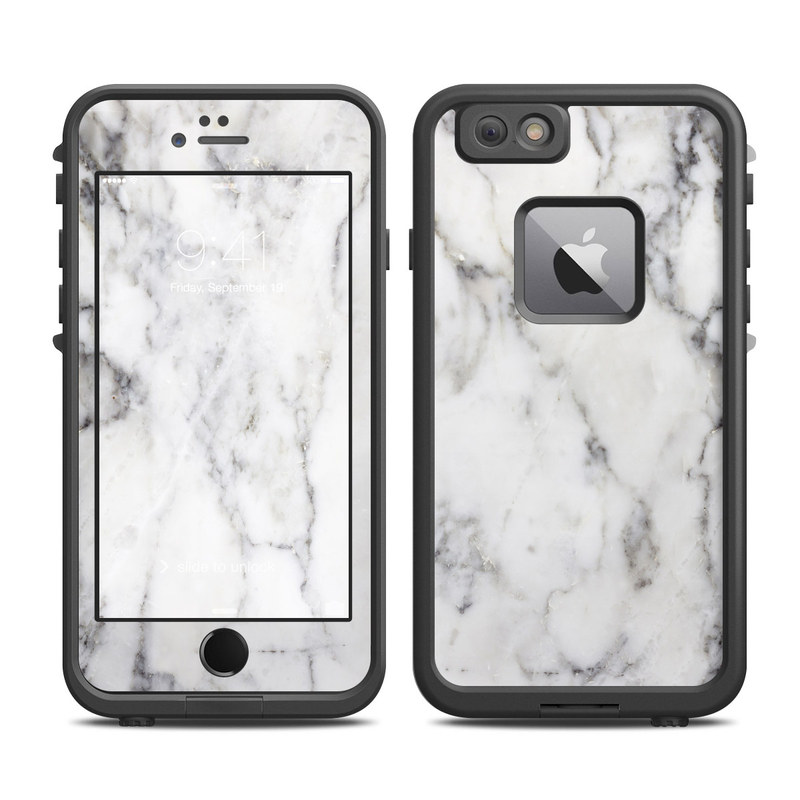 White Marble LifeProof iPhone 6s Plus fre Case Skin
