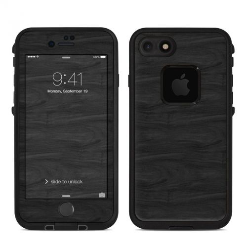 Black Woodgrain LifeProof iPhone 8 fre Case Skin