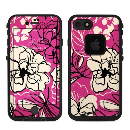 Black Lily LifeProof iPhone 7 fre Skin