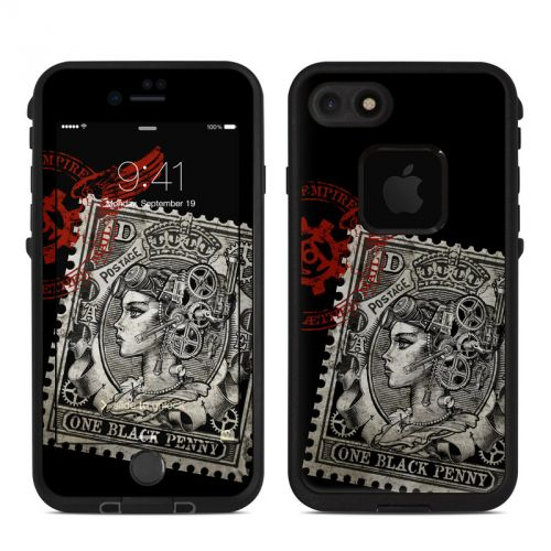 Black Penny LifeProof iPhone 7 fre Skin