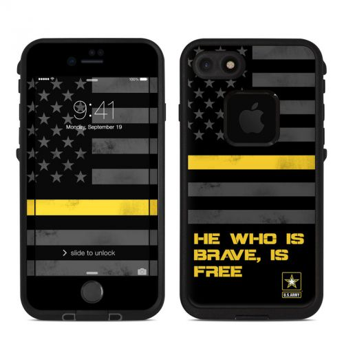 Brave is Free LifeProof iPhone 7 fre Case Skin