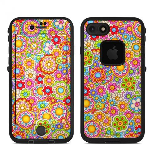 Bright Ditzy LifeProof iPhone 7 fre Skin