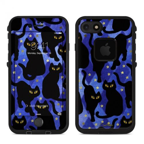 Cat Silhouettes LifeProof iPhone 7 fre Skin
