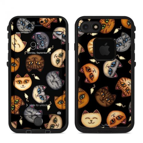 Cat Faces LifeProof iPhone 7 fre Skin