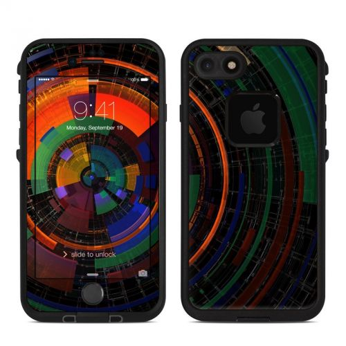 Color Wheel LifeProof iPhone 7 fre Skin
