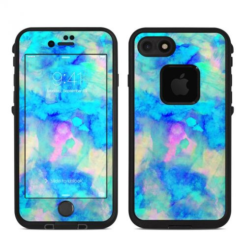 Electrify Ice Blue LifeProof iPhone 8 fre Case Skin