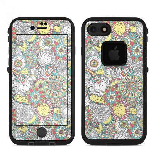 Faded Floral LifeProof iPhone 7 fre Skin