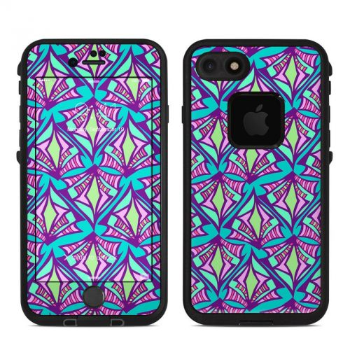 Fly Away Teal LifeProof iPhone 8 fre Case Skin