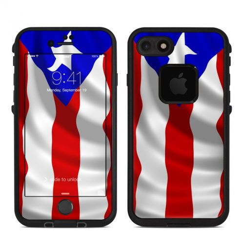Puerto Rican Flag LifeProof iPhone 7 fre Skin