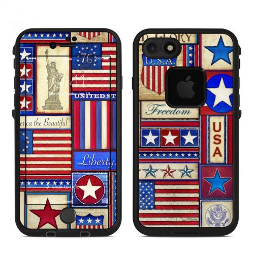 Flag Patchwork LifeProof iPhone 7 fre Skin