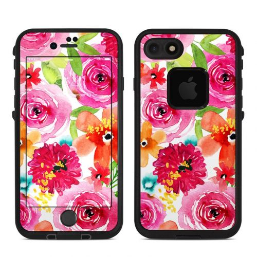 Floral Pop LifeProof iPhone 8 fre Case Skin