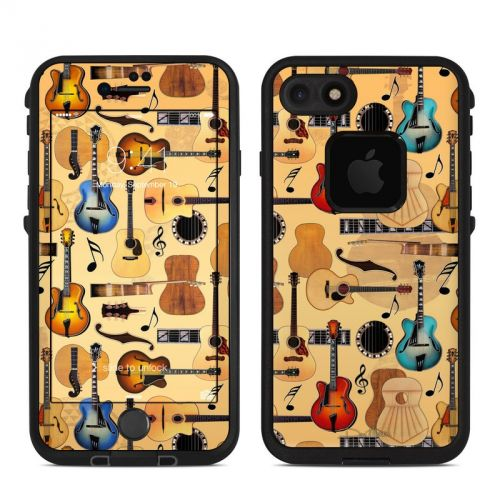 Guitar Collage LifeProof iPhone 7 fre Skin