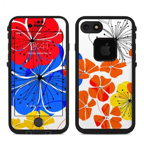 Hibiscus Dance LifeProof iPhone 7 fre Case Skin