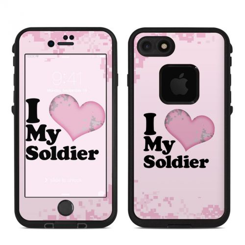 I Love My Soldier LifeProof iPhone 7 fre Skin