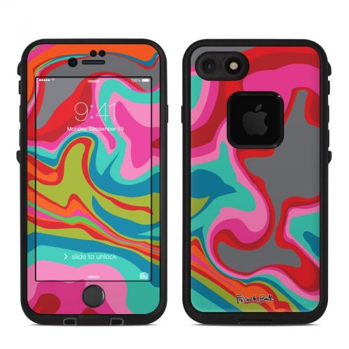 Marble Bright LifeProof iPhone 8 fre Case Skin