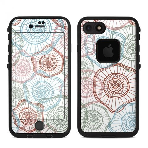 Micro Flowers LifeProof iPhone 8 fre Case Skin