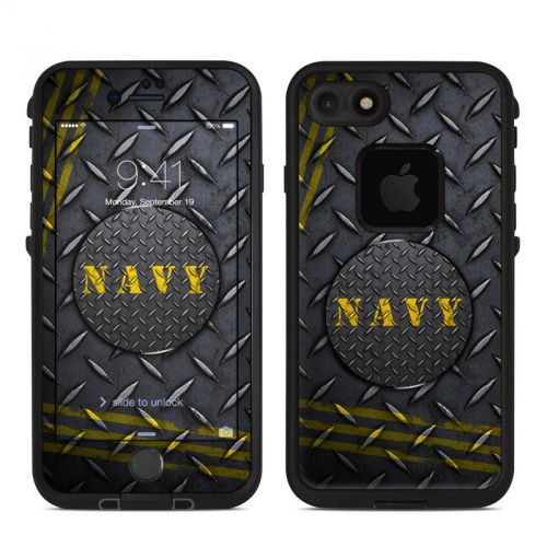 Navy Diamond Plate LifeProof iPhone 7 fre Skin
