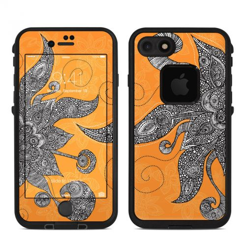 Orange Flowers LifeProof iPhone 8 fre Case Skin