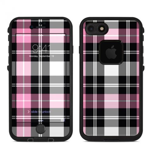 Pink Plaid LifeProof iPhone 7 fre Skin