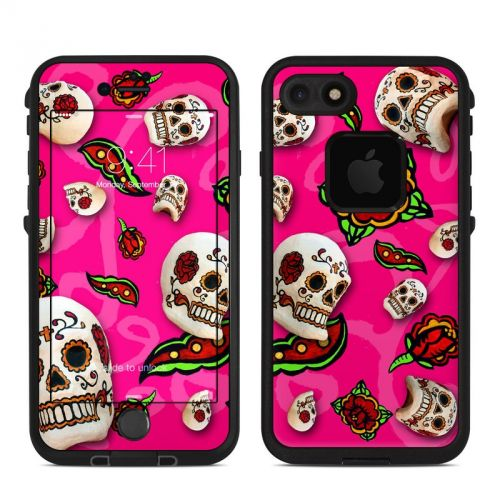 Pink Scatter LifeProof iPhone 8 fre Case Skin