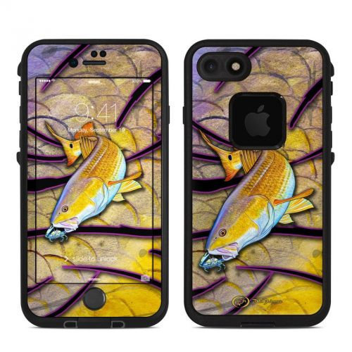 Red Fish LifeProof iPhone 7 fre Skin