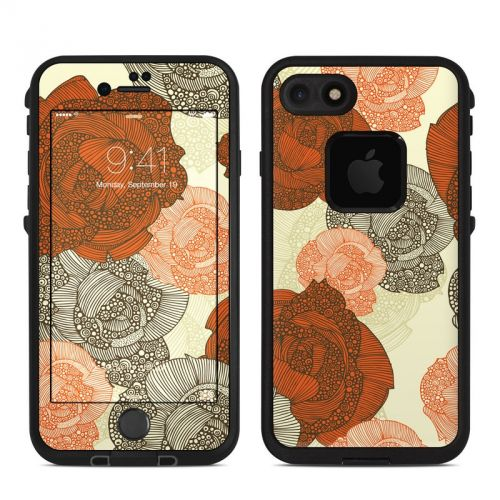 Roses LifeProof iPhone 7 fre Skin