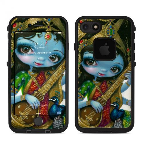 Saraswati Playing LifeProof iPhone 8 fre Case Skin