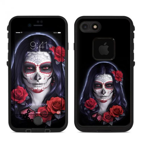 Sugar Skull Rose LifeProof iPhone 7 fre Case Skin