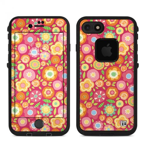 Flowers Squished LifeProof iPhone 7 fre Skin