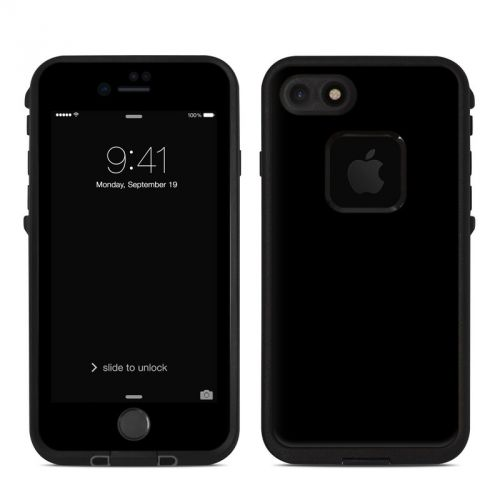 Solid State Black LifeProof iPhone 8 fre Case Skin