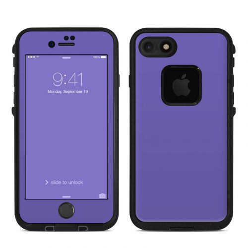 Solid State Purple LifeProof iPhone 8 fre Case Skin