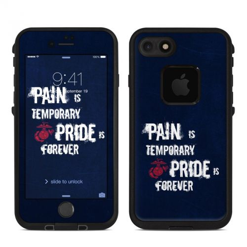 Pain is Temporary LifeProof iPhone 7 fre Skin