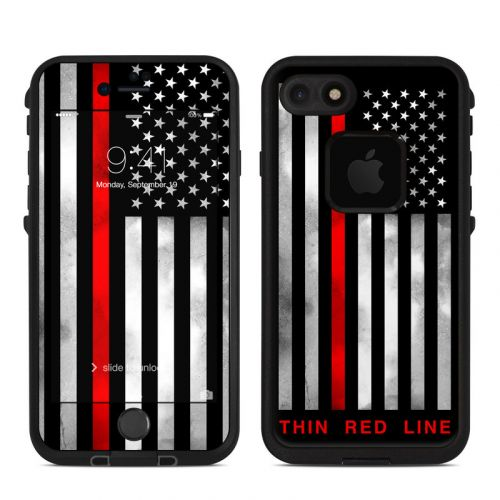 Thin Red Line LifeProof iPhone 8 fre Case Skin
