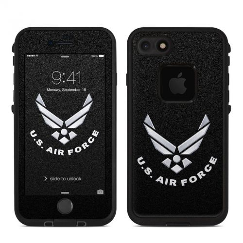 USAF Black LifeProof iPhone 8 fre Case Skin