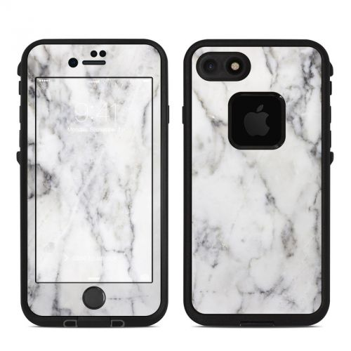 White Marble LifeProof iPhone 8 fre Case Skin